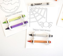 Halloween coloring card favors